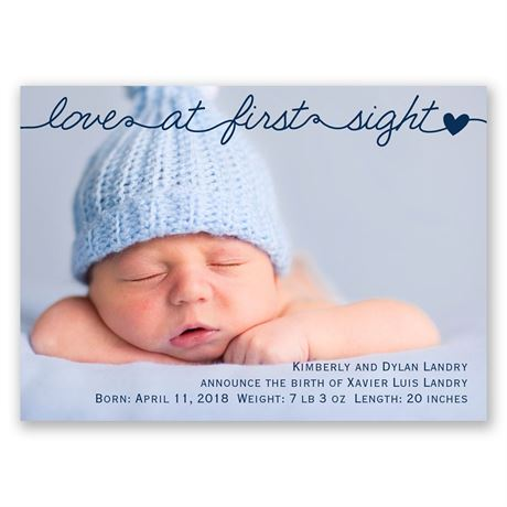 First Sight Mini Birth Announcement