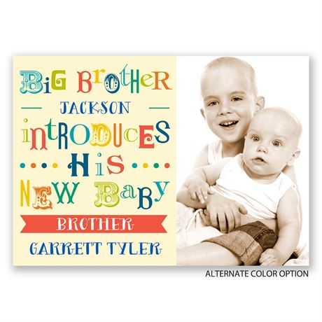 Big Brother - Birth Announcement