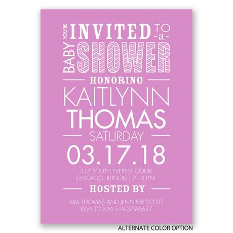 "You""re Invited - Baby Shower Invitation"