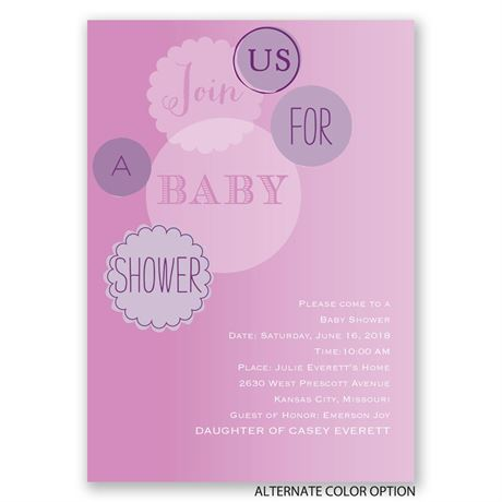 Baby Bubbles - Baby Shower Invitation
