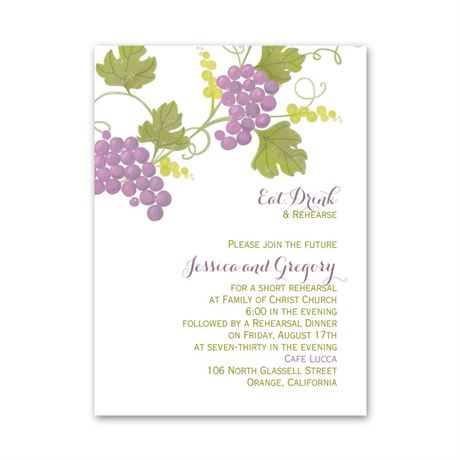 Grapes Petite Rehearsal Dinner Invitation