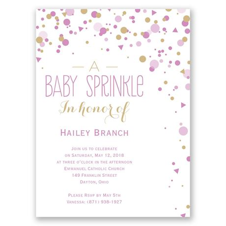 Bright Sprinkles Petite Baby Shower Invitation