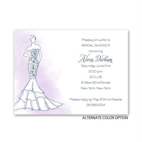 Fashion Struck - Petite Bridal Shower Invitation
