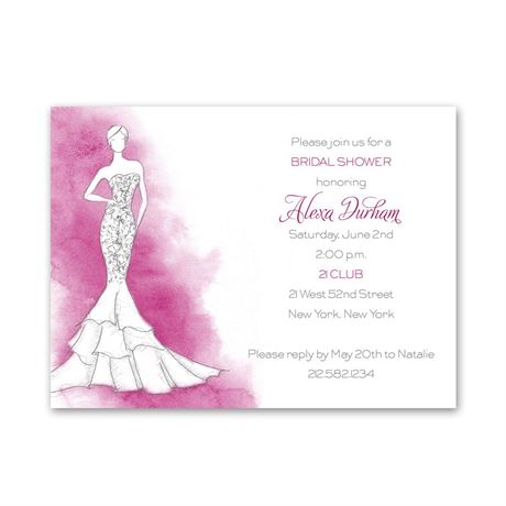 Fashion Struck Petite Bridal Shower Invitation