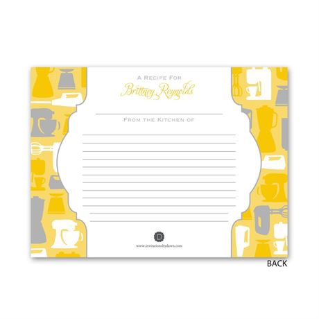 Best Recipes - Petite Bridal Shower Invitation