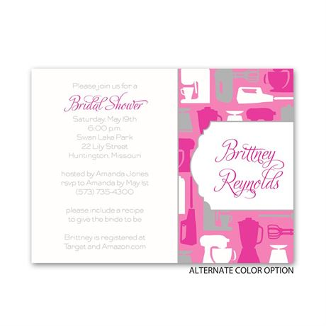 Best Recipes - Petite Bridal Shower Invitation