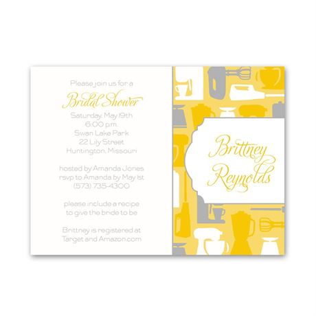 Best Recipes Petite Bridal Shower Invitation