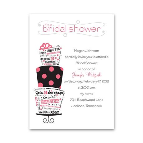 Best Cake Ever - Petite Bridal Shower Invitation