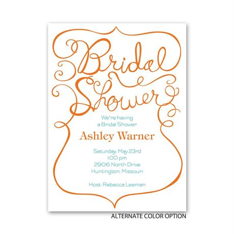 Quirky Calligraphy - Petite Bridal Shower Invitation