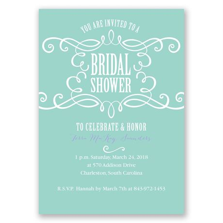 Fab Flourish Bridal Shower Invitation