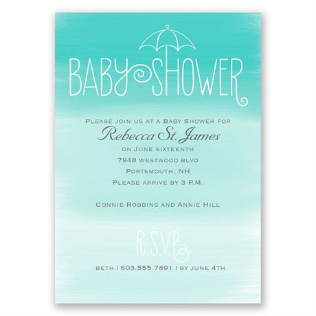 Ombre Style - Baby Shower Invitation