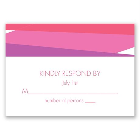 Bold Choice - Amethyst - Response Card
