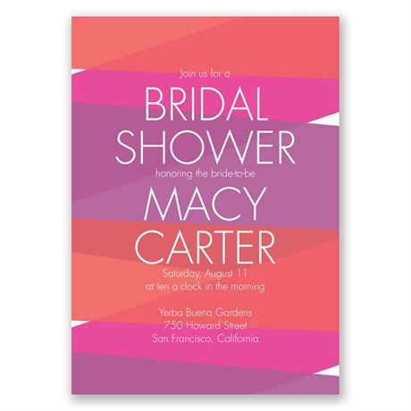 Crazy for Color - Amethyst - Bridal Shower Invitation