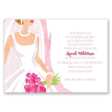 Beautiful Bride - Bridal Shower Invitation