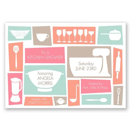 Kitchen Necessities - Bridal Shower Invitation