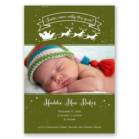 Christmas Cheer Birth Announcement