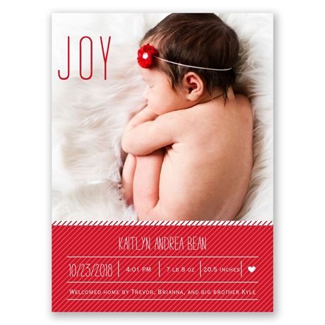 Joy - Petite Birth Announcement