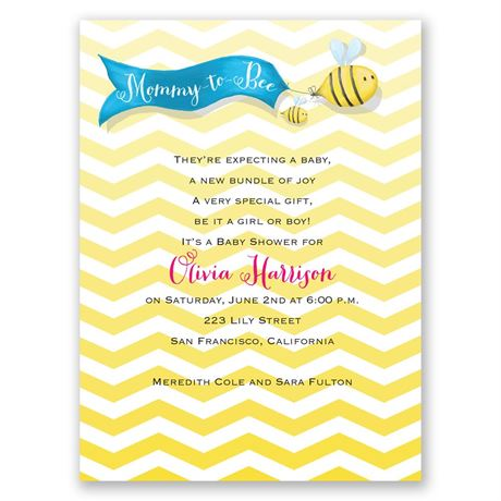 Busy Bees Petite Baby Shower Invitation