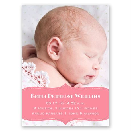Sweet Sensation Mini Birth Announcement