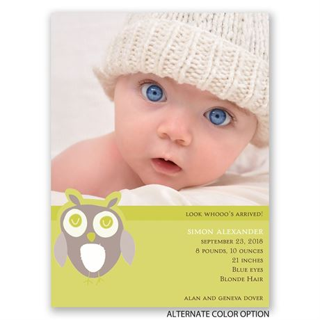 Owl Love - Petite Birth Announcement