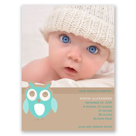 Owl Love Petite Birth Announcement