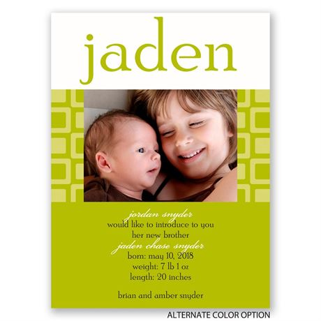 Simply Modern - Petite Birth Announcement