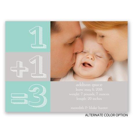 Good Answer - Petite Birth Announcement