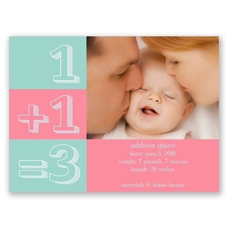 Good Answer Petite Birth Announcement
