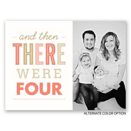 Happy Family- Petite Birth Announcement