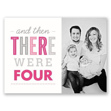 Happy Family Petite Birth Announcement