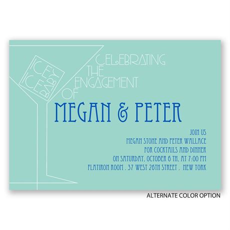 Baby Got Iced - Engagement Party Invitation