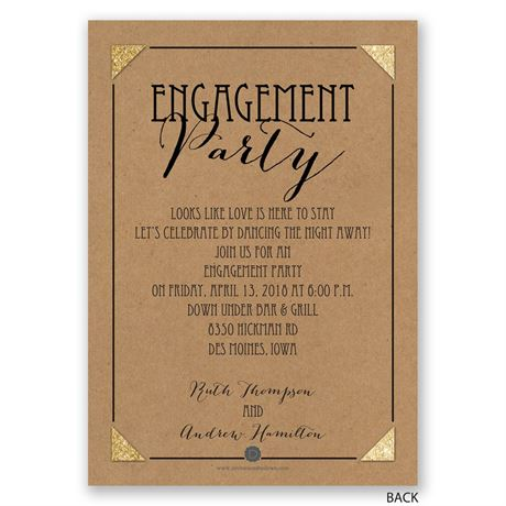 He Liked It - Engagement Party Invitation