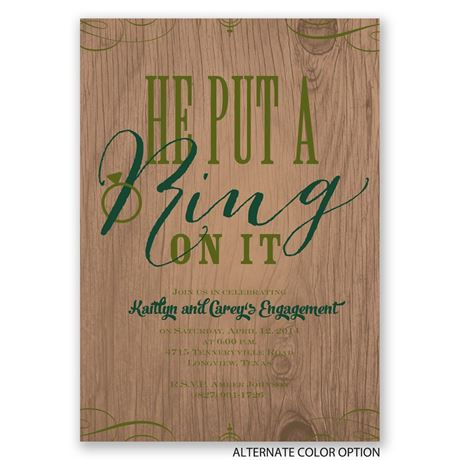 Sassy Style - Engagement Party Invitation