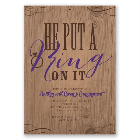 Sassy Style Engagement Party Invitation