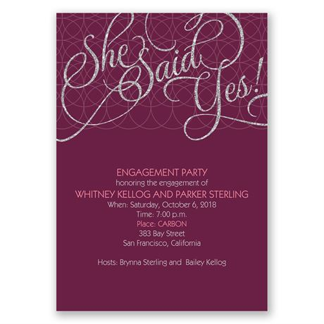 Dazzled - Engagement Party Invitation