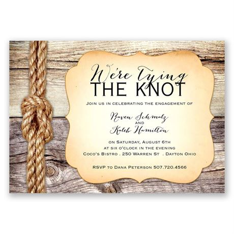 Tying the Knot - Engagement Party Invitation
