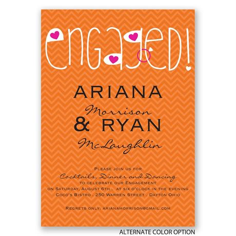Happily Engaged - Engagement Party Invitation