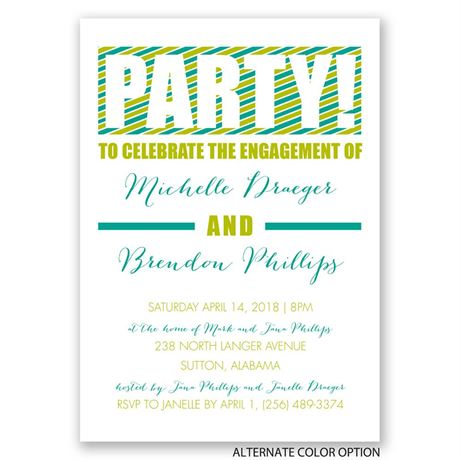OMG - Engagement Party Invitation
