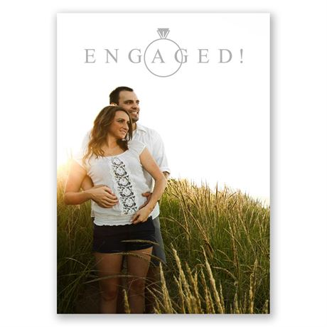 Contemporary Style Engagement Announcement