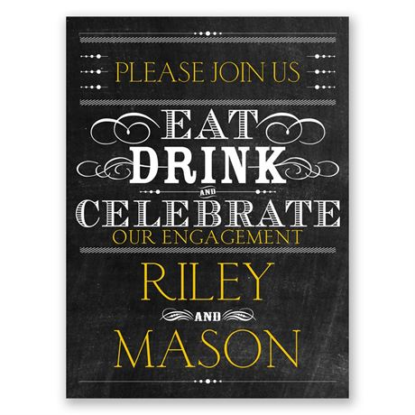 Celebrate Petite Engagement Party Invitation