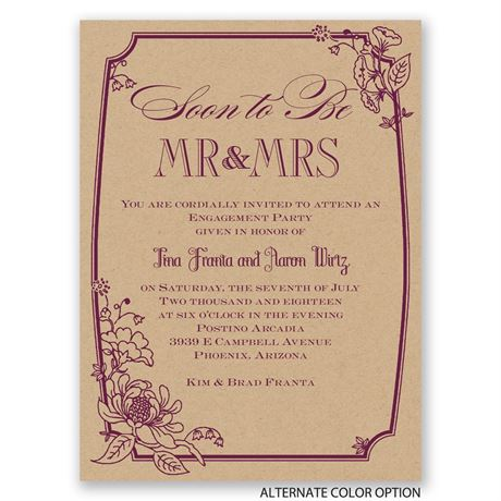 Country Kraft - Petite Engagement Party Invitation