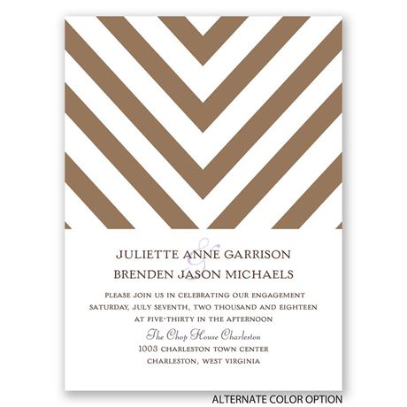 Splendid Chevron - Petite Engagement Party Invitation