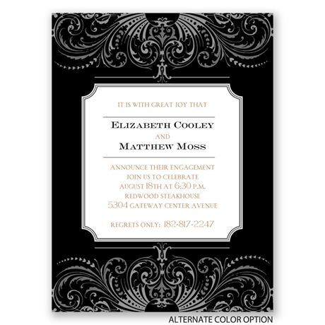 Absolute Elegance - Petite Engagement Party Invitation