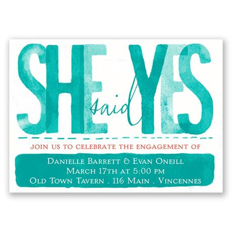 Paint the Town Mini Engagement Party Invitation