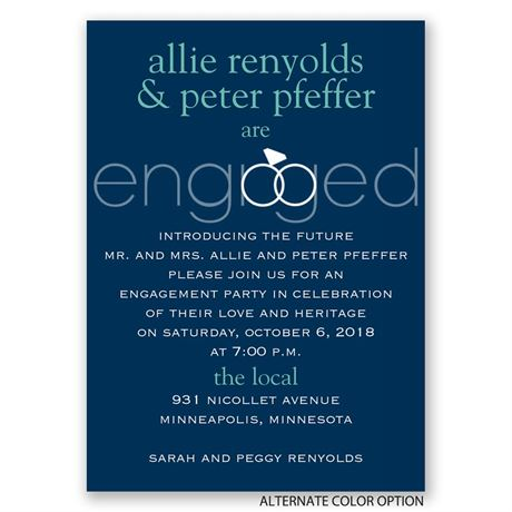 Engaged - Mini Engagement Party Invitation
