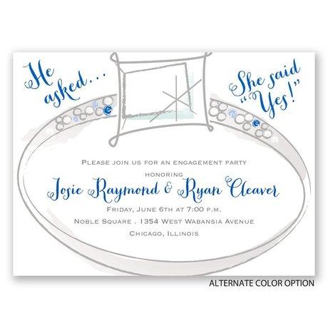Wedding Bling - Petite Engagement Party Invitation