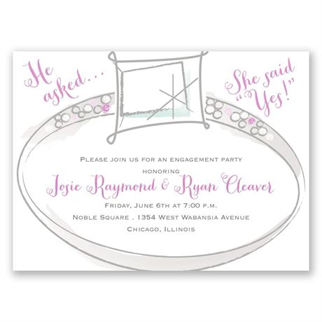 Wedding Bling - Petite Engagement Party Invitation