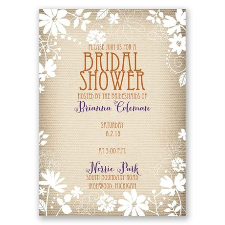 Country Whimsy - Bridal Shower Invitation