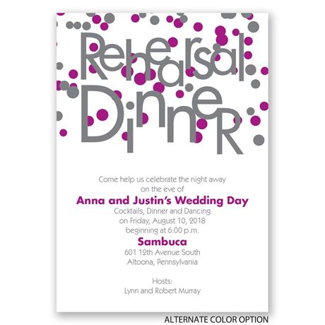 Bubbly Surprise Rehearsal Dinner Invitation | Invitations By Dawn