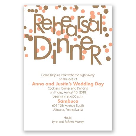 Bubbly Surprise Rehearsal Dinner Invitation